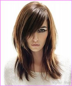 cool Layered haircuts for long straight hair with side bangs