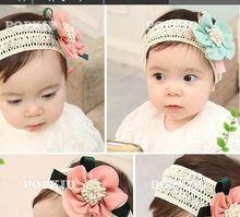 Meninas do bebê crianças crianças recém-nascido Big flor Headband Headwear acessórios de cabelo(China (Mainland))