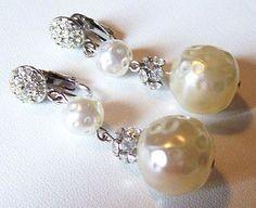Vintage Dangle Earrings Rhinestone & by BrightgemsTreasures, $24.50