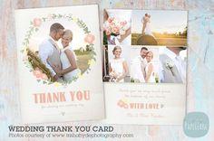 AW014 Wedding Thank You Card. Wedding Fonts. $8.00