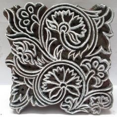Indian Wooden Hand Carved Textile Printing on Fabric Block Stamp Art Pattern | eBay