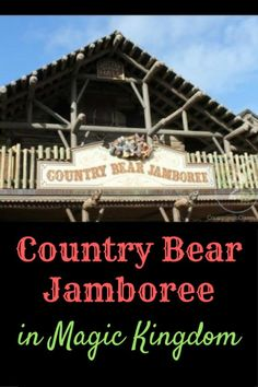 Country Bear Jamboree in the Magic Kingdom is a boot stompin', knee slapin' country-and-western show starring some hilarious Audio-Animatronic bears. Disney World Shows, Disney World Parks, Disney World Planning, Disney World Tips And Tricks, Walt Disney World Orlando, Walt Disney World Vacations, Disney Trips, Disney Fun, Magic Kingdom Tips