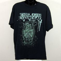 Through The Eyes Of The Dead Death Metal T-Shirt Distressed Black Size Large | eBay