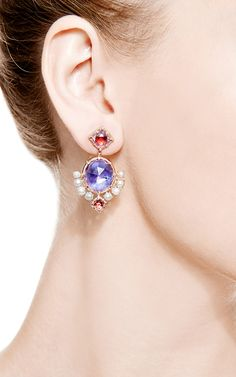 Bella compass earrings by Larkspur & Hawk