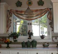 trendy bathroom window treatments with blinds sinks Kitchen Window Coverings, Bathroom Window Treatments, Valance Window Treatments, Swag Curtains, Cafe Curtains, Kitchen Curtains, Kitchen Windows, Country Curtains, Kitchen Window Valances