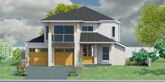 Custom Home Designs, Custom Homes, Double Storey House Plans, Fern, Shed, Outdoor Structures, House Design, Cabin, How To Plan
