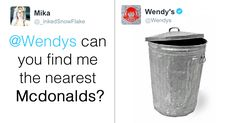 Wendy's Is Roasting People On Twitter, And It's Just Too Funny -    Wendy's fast food chain might be named after a sweet little girl, but don't be fooled by that seemingly innocent exterior. Beneath that sign lurks ... See more at https://www.icetrend.com/wendys-is-roasting-people-on-twitter-and-its-just-too-funny/
