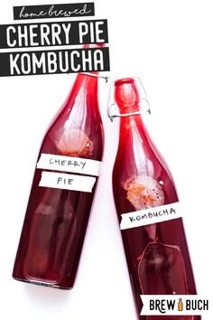 This cherry kombucha is packed with sweet cherries and fragrant vanilla, making for a delicious kombucha flavor you'll love! Kombucha Fermentation, Fermentation Recipes, Kombucha Tea, Kombucha Brewing, Homebrew Recipes, Kombucha Flavors, Kombucha Recipe, Yummy Drinks, Healthy Drinks