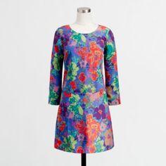 J.Crew Factory printed draped shift dress