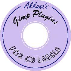 Gimp Plugins for making CD labels
