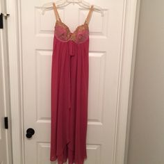 VS long nightie. Size S. Beautiful Victoria's Secret long nightie. Size S.  Bra has front closure and removable pads. Smoke/pet free home. Victoria's Secret Intimates & Sleepwear Chemises & Slips