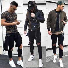 "4,280 Likes, 47 Comments - MEN'S FASHION & STYLE (@mensfashions) on Instagram: ""1, 2 or 3? @streetsfashions Whatcha say  or ? Leave a comment  Style by: @nemanja_grujic"""