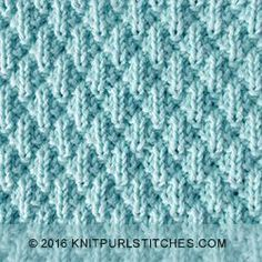 Seersucker stitch is easy, just knit and purl, and is lovely and squishy. Pattern includes written instructions and chart. LOTS OF OTHER STITCH AS WELL Knit Purl Stitches, Knitting Stiches, Knitting Charts, Loom Knitting, Knitting Patterns Free, Knit Patterns, Stitch Patterns, Free Pattern, Knitting Help