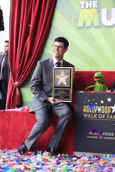 Rich Ross At The Muppets   Hollywood Walk Of Fame