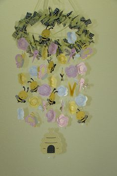 Baby Mobile Bumble Bee Butterfly Dragonfly Garden by magicalwhimsy, $65.00