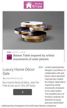 Lapicida's Solaris table, designed by Lara Bohinc lapicida.com http://www.homecrux.com/2014/08/14/19361/solaris-table-inspired-by-orbital-movements-of-solar-planets.html