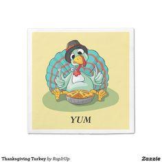 Thanksgiving Turkey Paper Napkin