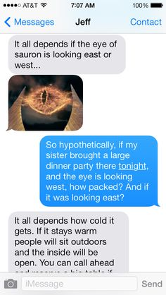 Conversation with my boss about how packed a restaurant is on a Thursday night.