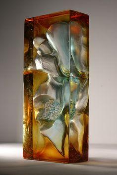 Crispian Heath - Latest work Kiln cast glass