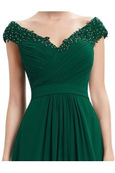 Ever-Pretty Long V-neck Wedding Gowns Dark Green Bridesmaid Party Dress 08633 Glamorous Evening Dresses, Elegant Dresses, Pretty Dresses, Evening Gowns, Long Gown Elegant, Evening Dresses For Weddings, Green Wedding Dresses, Bridesmaid Dresses, Prom Dresses