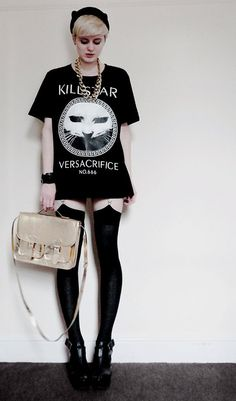 Versacrifice by Kill Star, and kitty ear beret