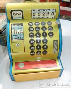 Tin Toy Cash Register - LOCATION: Covington, KY, MainStrasse Village, Highway 127 and W 6th Street.