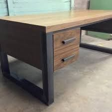 Image result for cool office desks american walnut