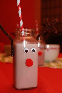 Festive Holiday Drinks - Reindeer Chocolate Milk