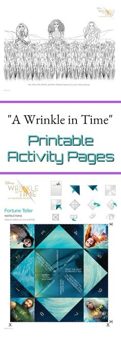 """Are you excited to see """"A Wrinkle in Time"""" the movie? Grab these FREE A Wrinkle in Time printable coloring and activity pages featuring the main characters!"""