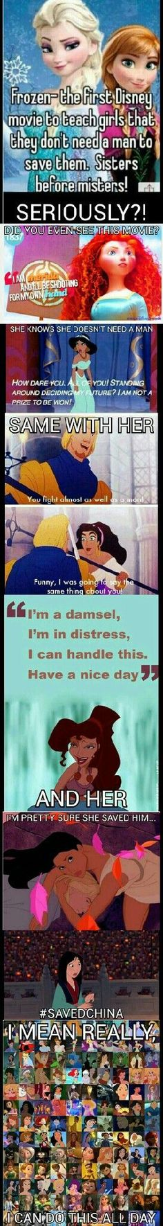 Disney ladies don't need a guy