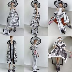 Edda Gimnes . Love her. Just love her.  Pretty willing to bet, if they were still around Elsa Schiaparelli and Dali  would love her too.   This young Norwegian designer doesn't draw sketches that are supposed to  look like garments—she makes actual clothes that look like her sketches.  The su