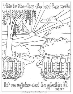 Coloring Pages for Kids by Mr. Adron: Shout For Joy, Psalm