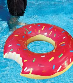 Floating in a pool is decadent enough, but floating on a donut adds another layer of hedonistic joy.