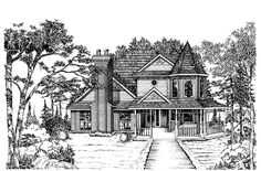 A perfect house for Wheaton:  Queen Anne House Plan with 2506 Square Feet and 4 Bedrooms from Dream Home Source | House Plan Code DHSW49209