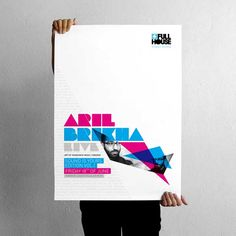 002 aril brikha poster by projectgraphics Creative Poster Design, Creative Posters, Poster Designs, Design Posters, Typographic Poster, Typography, Typographic Hierarchy, Lettering, Straight Line Designs