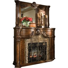 Happy Birthday Furniture to @vintageeatherbooks ❤ liked on Polyvore featuring fireplaces, furniture, home, decor and furnishings