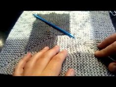 How to join 10 stitch blanket with NO RIDGE - YouTube