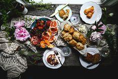 Lemon Lavender Scones - Photography & Styling by Christiann Koepke of Portlandfresh Lavender Scones, Lemon Scones, Brunch Recipes, Breakfast Recipes, How To Make Scones, Compound Butter, Stone Fruit, Stick Of Butter, Fresh Herbs