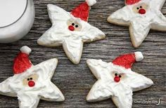 Whether you need an idea for a Christmas Cookie Exchange or you are just making cookies for family and friends these recipes are perfect for celebrating the holiday season. I love Christmas cookies! Well really cookies of any kind, but Christmas cook Christmas Cookie Exchange, Christmas Sugar Cookies, Christmas Snacks, Christmas Cooking, Noel Christmas, Christmas Goodies, Holiday Cookies, Holiday Treats, Christmas Cookie Cutters