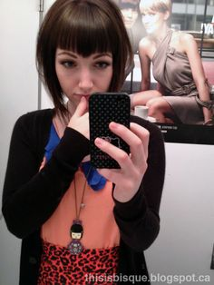 Widows peak bangs. I think these are the only bangs I could see myself rocking'!