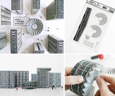 """""""Blok Wschodni / Eastern Block"""" is a collection of paper cut-out models by graphic design studioZUPAGRAFIKArepresenting various modernist buildings in Warsaw, Poland. Each building is hand-drawn and includes a short technical note on its architects, year of construction and exact location."""
