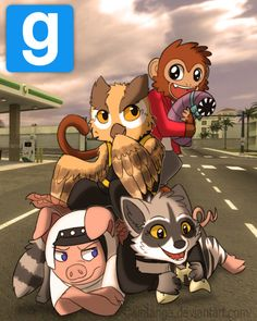 trashymutt: My favorite gaming youtubers, VanossGaming and the crew~  Though I only choice to draw these four because I picked the ones who had animals greatly associated with their characters, because I am garbage at drawing humans… and I thought it would be fun to make them anthros, lol.  But I like all the people in the crew. :3   So from the top: Lui Calibre VanossGaming H20 Delirious I Am Wildcat