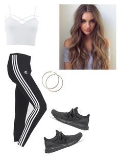 """""""Untitled #56"""" by haileymagana on Polyvore featuring Charlotte Russe, adidas, adidas Originals and plus size clothing"""