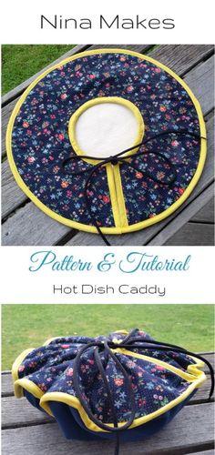 Hot Dish Caddy Tutorial and Free Pattern on Nina Makes