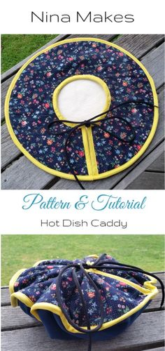 Hot Dish Caddy Tutorial and Free Pattern on Nina Makes