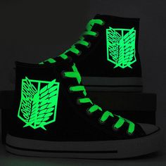 Fashion Luminous Shoes Attack on Titan with Galaxy by CrazyPoem