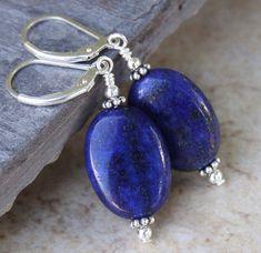 £2.5 GBP - Natural 13X18Mm Blue Lapis Lazuli Oval Beads Earring Aaa #ebay #Fashion