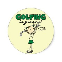 Golfing is Groovy Tshirts and Gifts Stickers