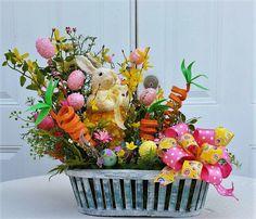 Easter Arrangement  Bunny Centerpiece  by StudioWhimsybyBabs