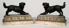 French Victorian fireplace accessory andirons bronze